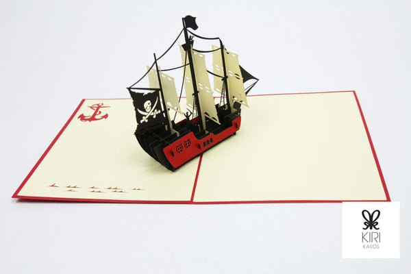 Pirate Ship Pop Up Card