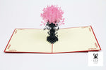 Tall Flower Vase Pop Up Card