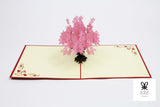 Short Flower Vase Pop Up Card