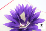 Purple Lotus Flower Pop Up Card