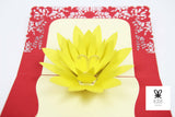 Yellow Flower Pop Up Card