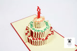 Birthday Cake Multi-Color Pop Up Card