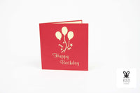 Birthday Balloons Pop Up Card