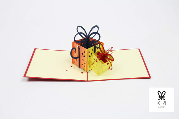 Double Birthday Gift Pop Up Card