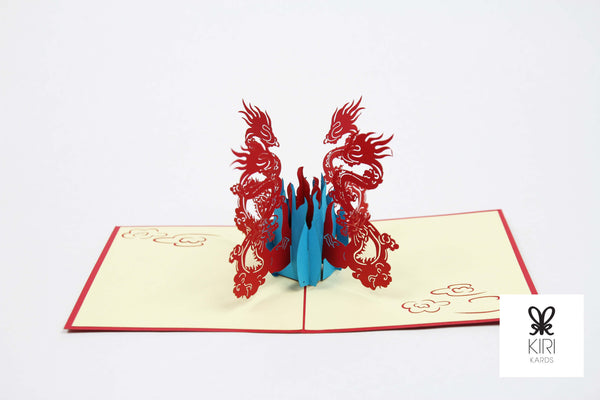 Four Dragons Pop Up Card