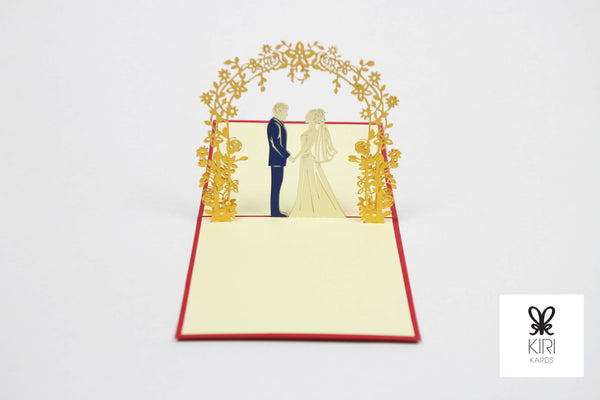Wedding Couple Pop Up Card