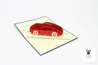Sports Car Pop Up Card