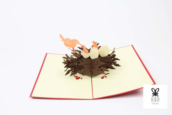 Bird's Nest Pop Up Card