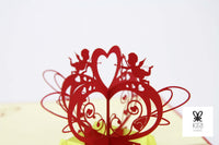 Cupid Hearts Pop Up Card