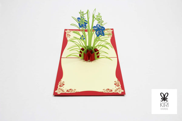 Tulip Vase Pop Up Card