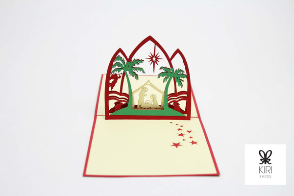 Nativity Scene with Star Pop Up Card