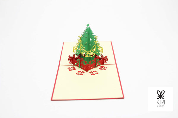 Christmas Tree w/Presents Pop Up Card