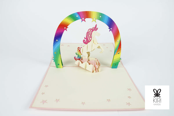 Unicorn Pop Up Card