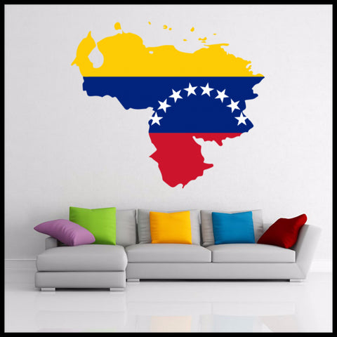 Map of Venezuela Wall Vinyl Blackboard Sticker