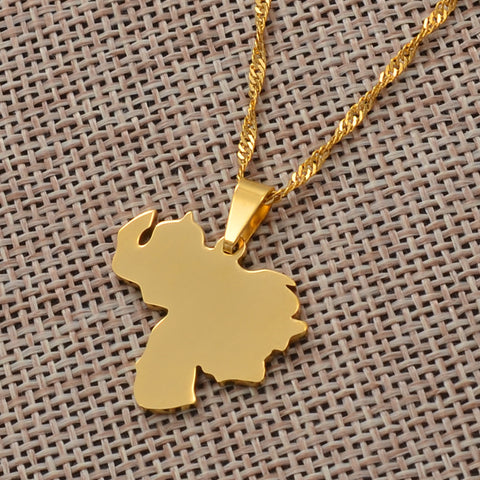 Venezuela Map  Necklace
