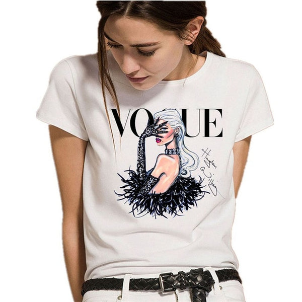 Tshirt VOGUE Moden Lady Clothes