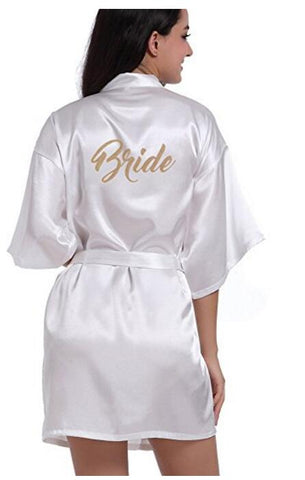 Women Kimono Robes for Bride and Bachelorette teem Weeding  Bridal