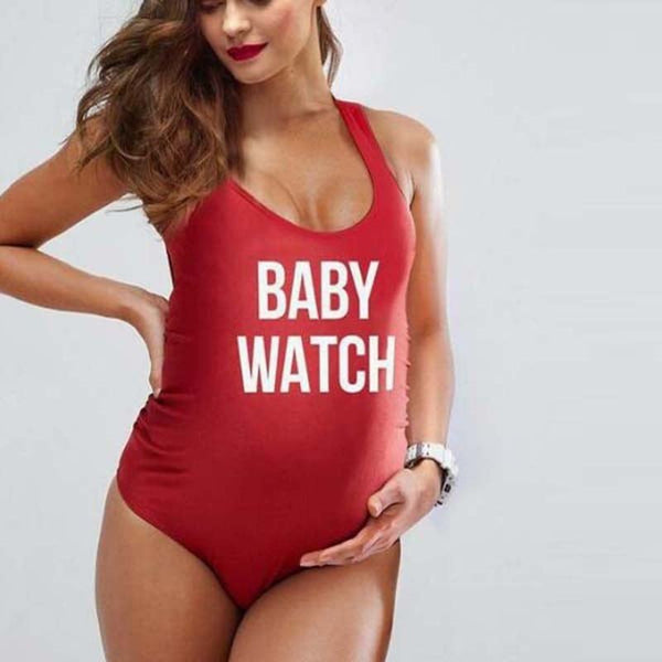 Plus Size Maternity Baby Watch Beach Swimming Suit Pregnant