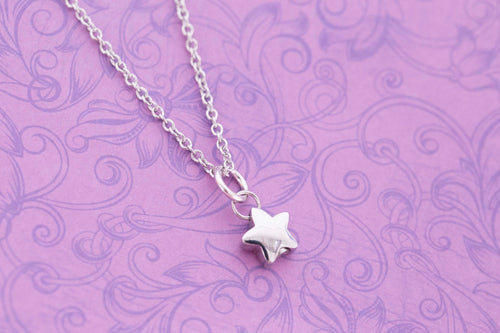 Tiny Stainless Steel Star Urn Charm - For Ashes - Cremation Jewelry - Engraved Urn - Engraved Jewelry - Star Urn - Tiny Urn Necklace