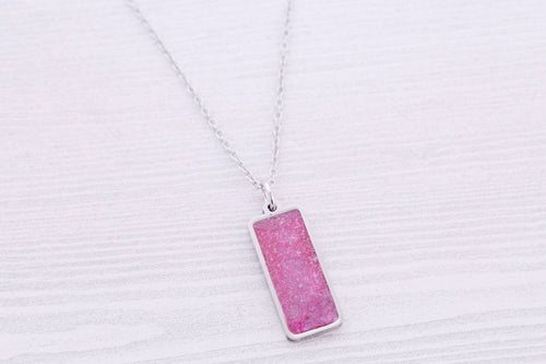 Rectangle Cremation Pendant - Stainless Pendant for Ashes - Cremation Jewelry - Urn Necklace - Pet Memorial - Ash Necklace