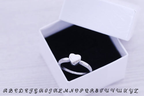 SIZE 6 - Cremation Ring - Cremation Jewelry - Engraved Jewelry - Urn - Pet Memorial - Urn Ring - Pet Cremation - Engraved Ring - Heart Ring