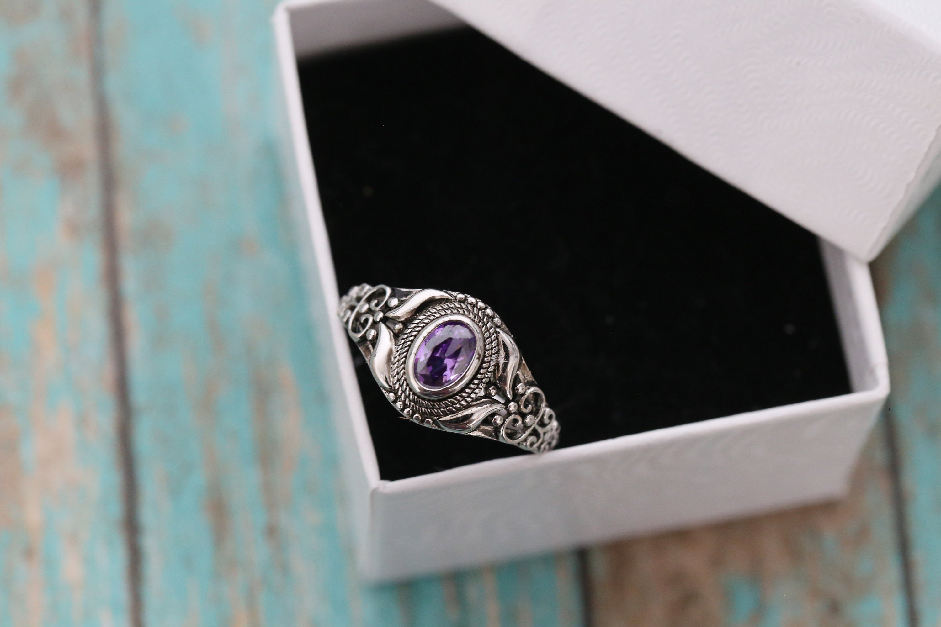 Cremation Ring - Sterling Silver Purple Oval Birthstone Ring - Cremation Jewelry - Ash Ring - Ash Jewelry - Urn Ring - Urn Jewelry -Pet Loss