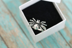 Cremation Ring - Sterling Silver Spider Ring - Cremation Jewelry - Ash Ring - Ash Jewelry - Urn Ring - Urn Jewelry - LifeStone