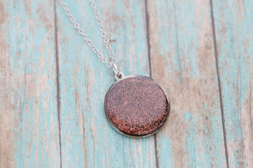 Round Cremation Pendant - Stainless Memorial Pendant for Ashes - Cremation Jewelry - Urn Necklace - Pet Memorial - Ash Necklace