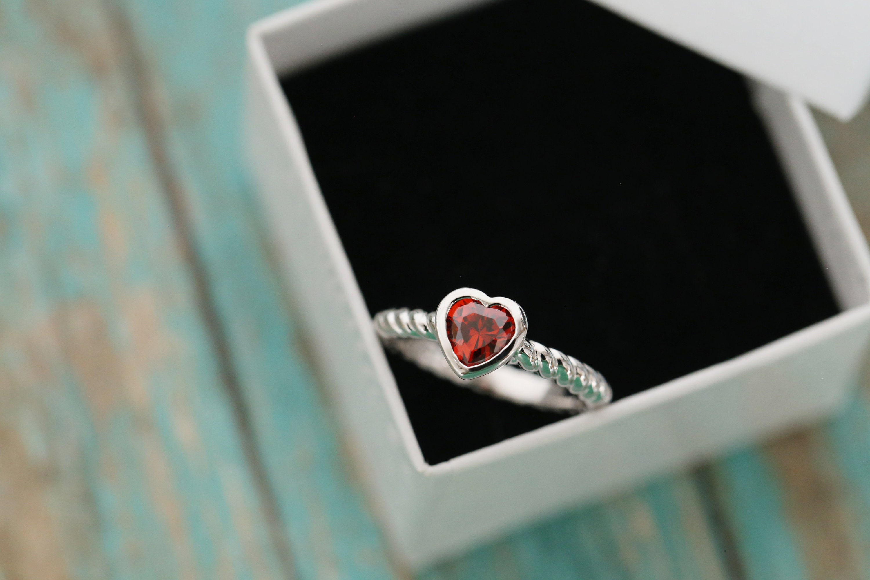 Cremation Ring - Sterling Silver Heart Birthstone Ring - Cremation Jewelry - Ash Ring - Ash Jewelry - Urn Ring - Urn Jewelry - Pet Loss