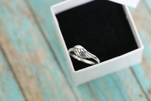 Cremation Ring - Sterling Silver Angel Wing Ring - Cremation Jewelry - Ash Ring - Ash Jewelry - Urn Ring - Pet Loss - LifeStone