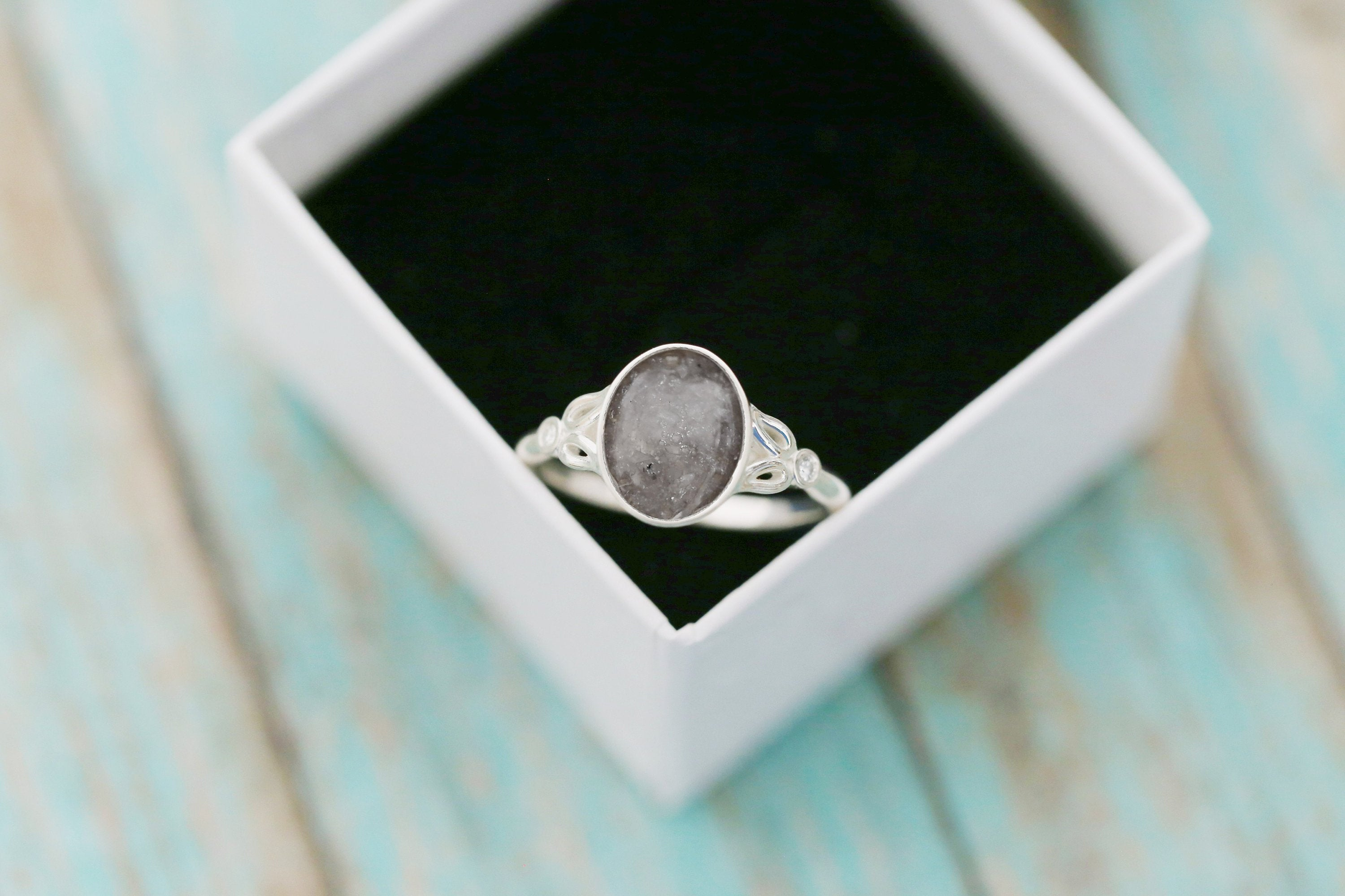 8x10mm Floral Cremation Ring - Sterling Silver Oval Cremation Ring- Cremation Jewelry- Ash Ring- Ash Jewelry- Urn Ring-Urn Jewelry- Pet Loss