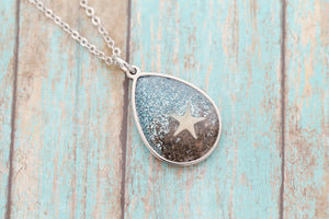 Beach Cremation Pendant - Ocean Pendant for Ashes - Cremation Jewelry - Engraved Jewelry - Urn Necklace - Pet Memorial - Ash Necklace