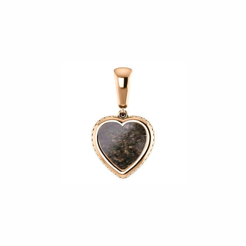 14k Rose Gold Cremation Heart Ash Pendant - Gold Heart - Cremation Jewelry - Ash Necklace - Ash Jewelry - Urn - Urn Jewelry - Pet Loss