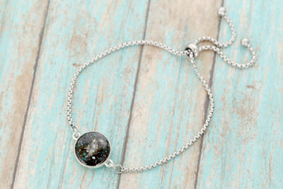 Lunar Moondust Cremation Bracelet- Sterling Memorial Bracelet for Ashes - Cremation Jewelry - Urn Bracelet - Pet Memorial - Ash Bracelet