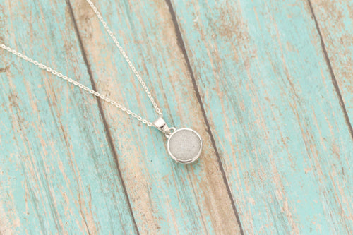 10mm Cremation Pendant - Sterling Memorial Pendant for Ashes - Cremation Jewelry - Urn Necklace - Pet Memorial - Ash Necklace