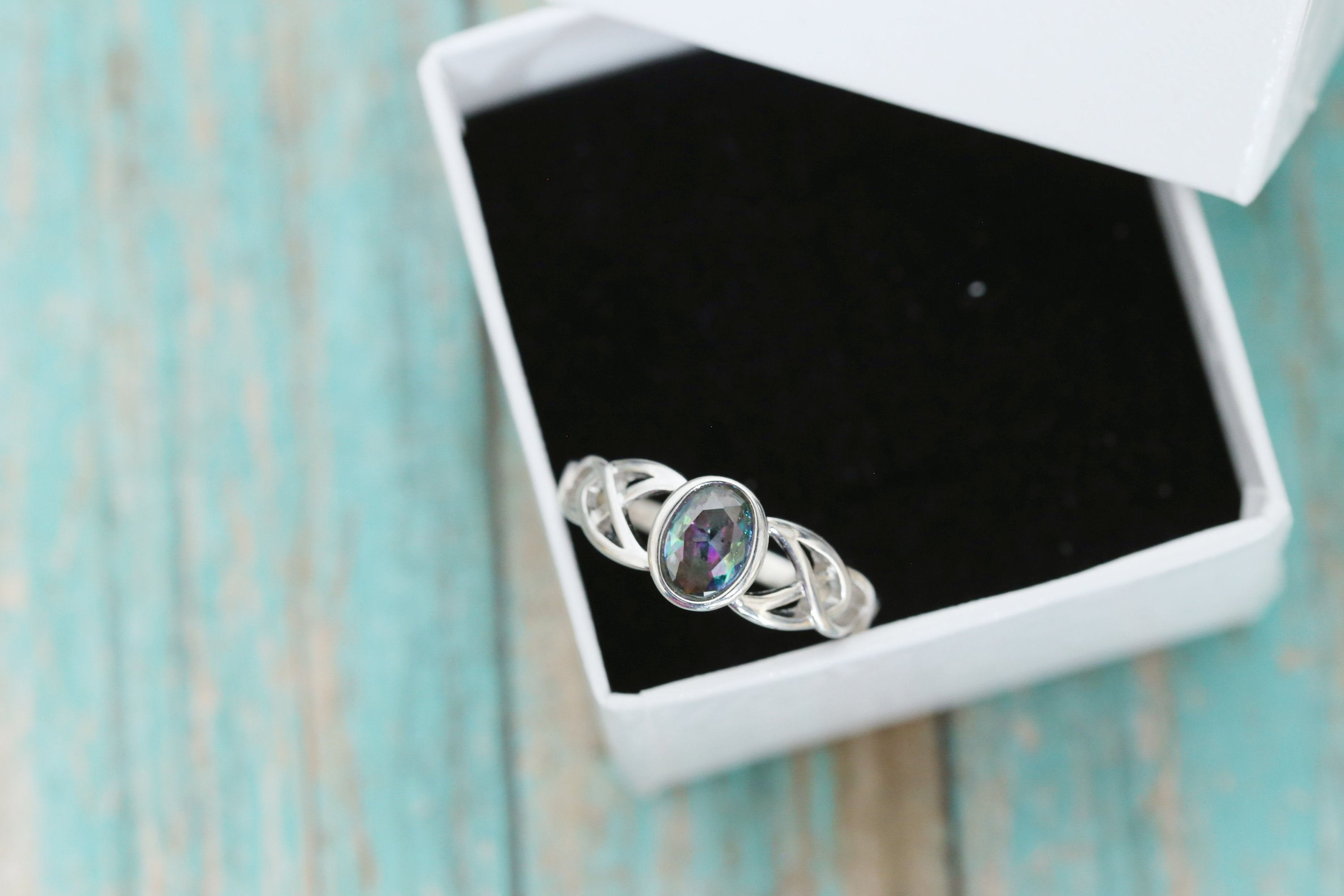 Cremation Ring - Sterling Silver Oval Birthstone Ring - Cremation Jewelry - Ash Ring - Ash Jewelry - Urn Ring - Mystic Topaz - Pet Loss