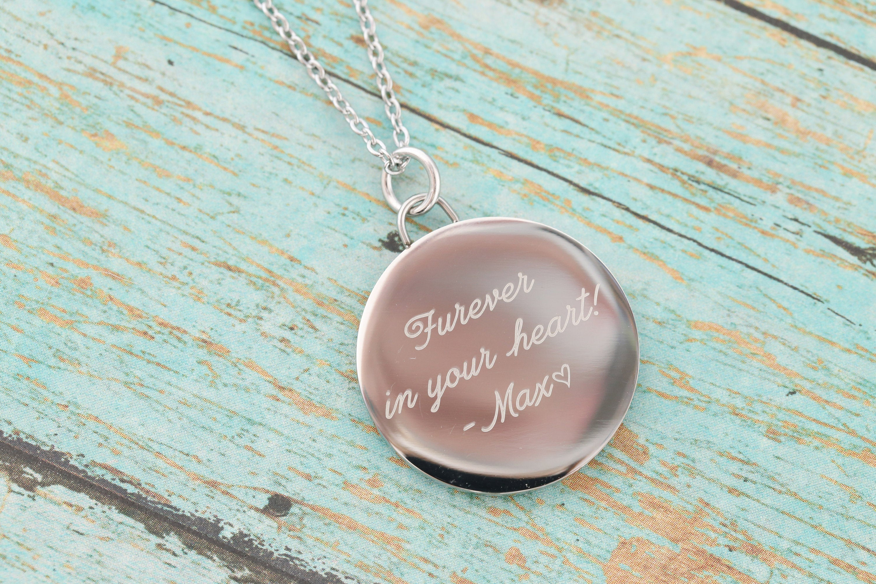 Cremation Pendant - Stainless Memorial Pendant for Ashes - Cremation Jewelry - Engraved Jewelry - Urn Necklace - Pet Memorial - Ash Necklace