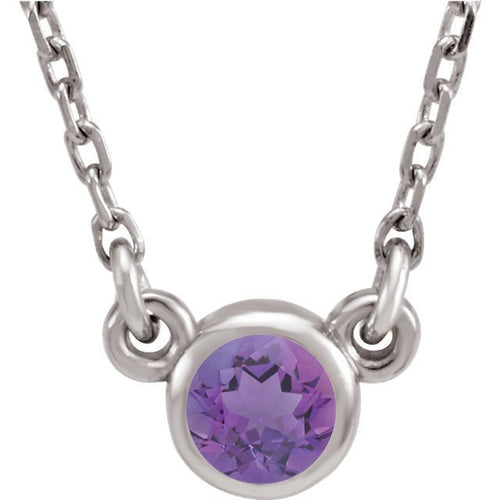 Sterling Silver Birthstone Cremation Ash Pendant - Amethyst - Cremation Jewelry -Ash Necklace -Ash Jewelry - Urn Jewelry - Pet Loss