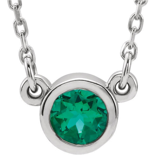Sterling Silver Birthstone Cremation Ash Pendant - Emerald - Cremation Jewelry -Ash Necklace -Ash Jewelry - Urn Jewelry - Pet Loss