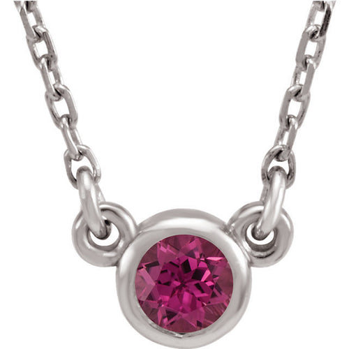 Sterling Silver Birthstone Cremation Ash Pendant - Pink Tourmaline - Cremation Jewelry -Ash Necklace -Ash Jewelry - Urn Jewelry - Pet Loss