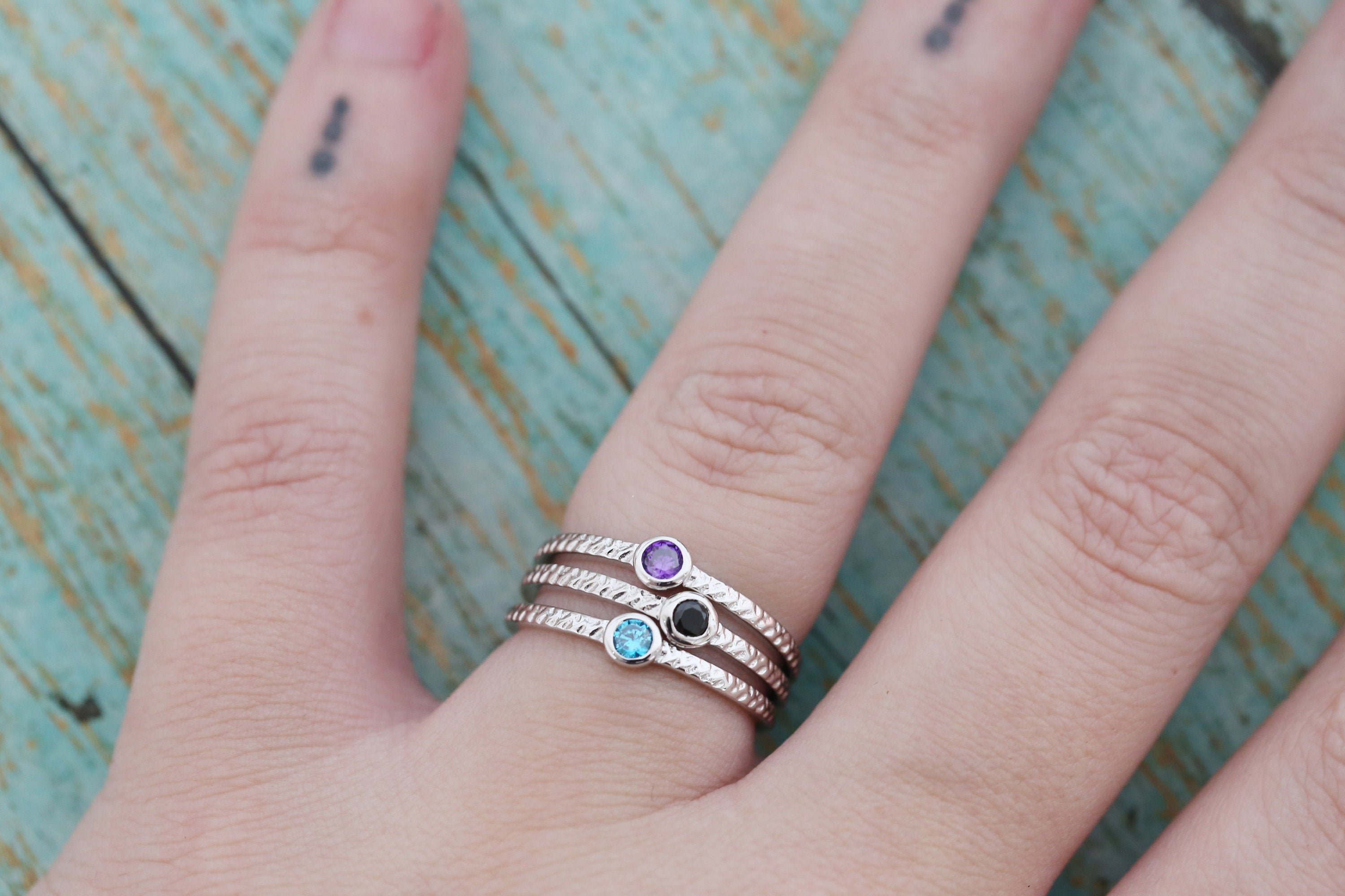 Cremation Ring - Sterling Silver April Birthstone Ring - Cremation Jewelry - Ash Ring - Ash Jewelry - Urn Ring - Urn Jewelry - Pet Loss