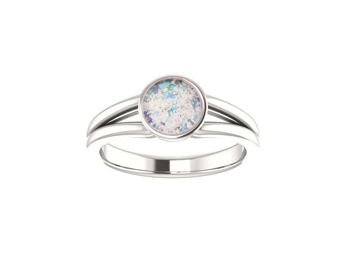 6mm Opal Cremation Ring - Platinum Cremation Ring - Cremation Jewelry - Ash Ring - Ash Jewelry - Urn Ring - Urn Jewelry - Opal Ring