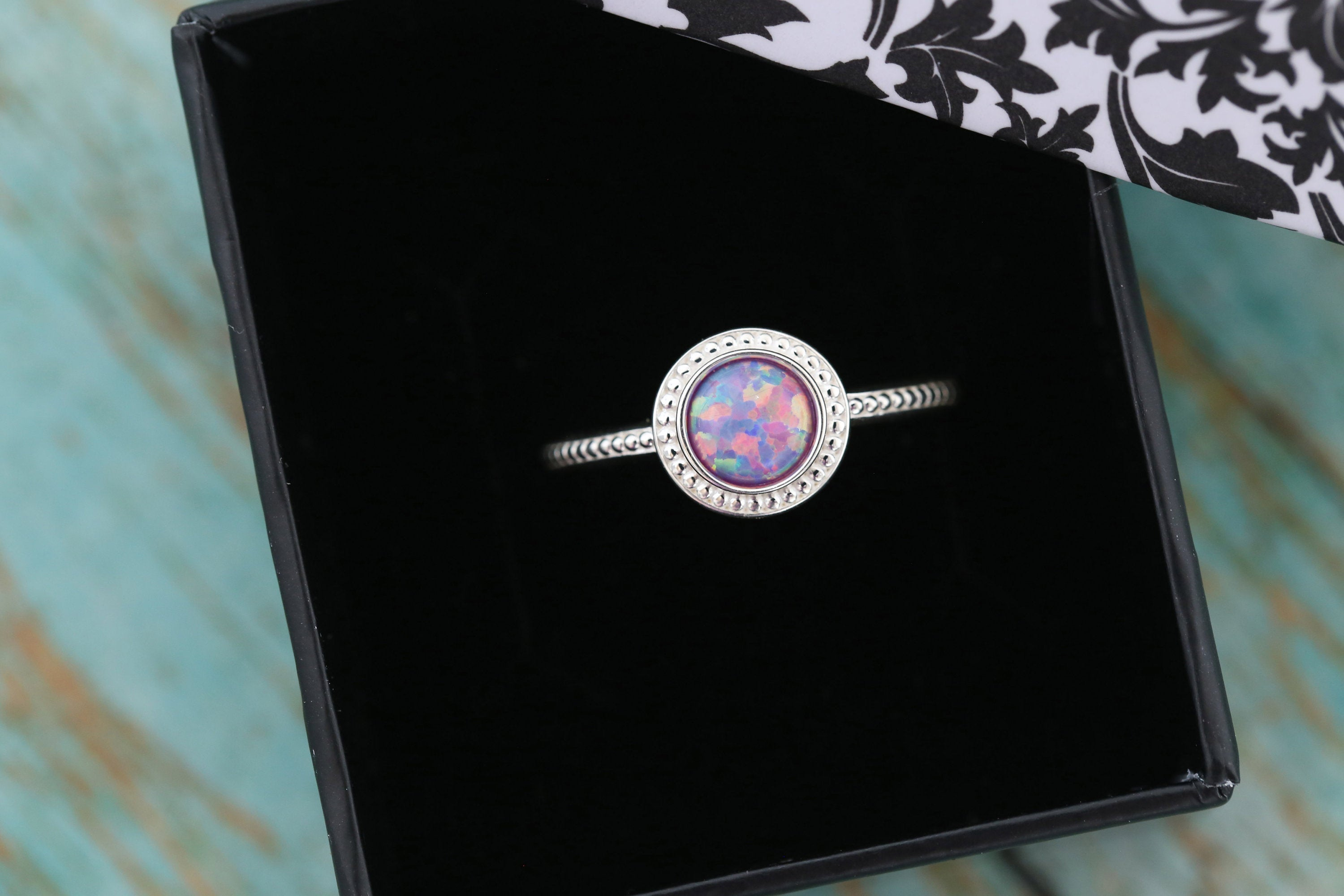 6mm Opal Cremation Ring - Sterling Silver Beaded Ring - Cremation Jewelry - Ash Ring - Ash Jewelry - Urn Ring - Pet Loss - 6mm9