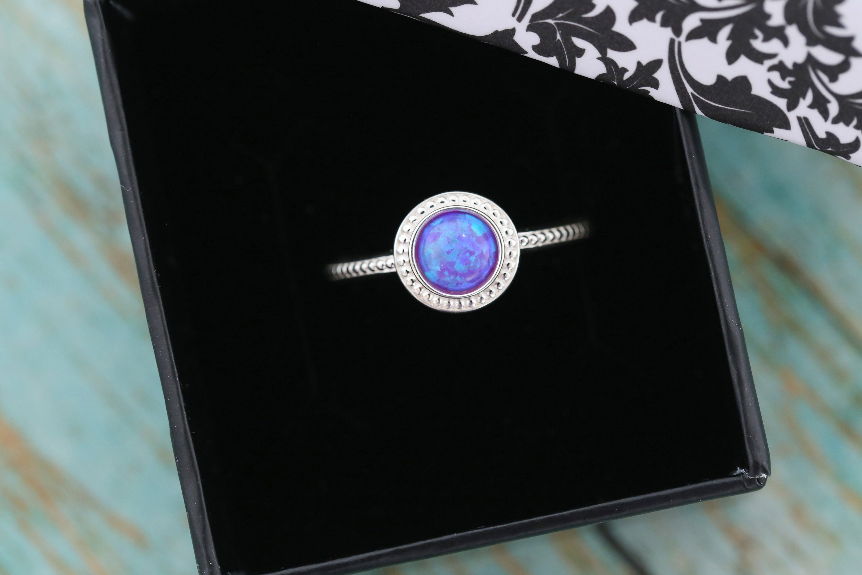 6mm Opal Cremation Ring - Sterling Silver Beaded Ring - Cremation Jewelry - Ash Ring - Ash Jewelry - Urn Ring - Pet Loss - 6mm10