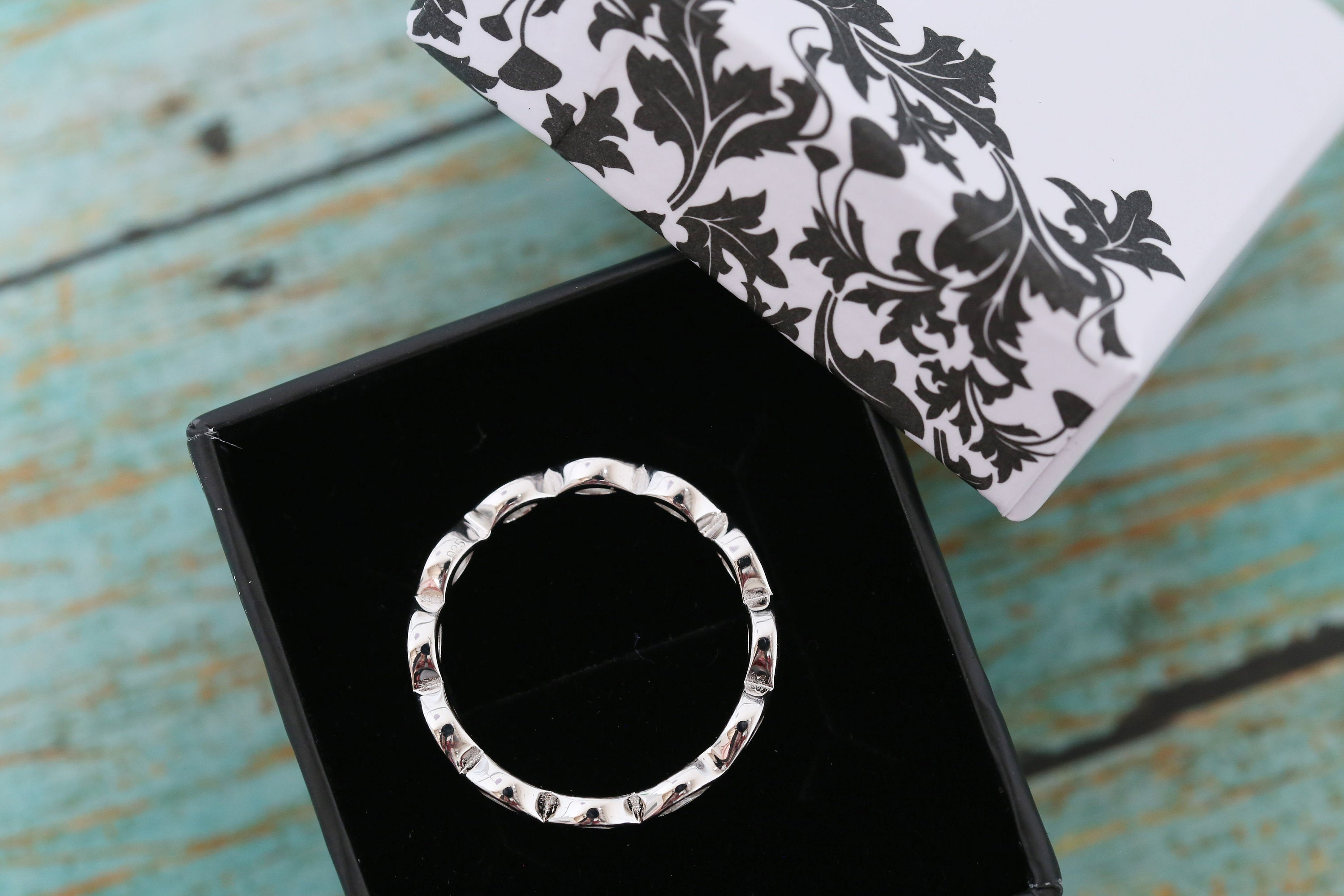 Cremation Ring - Sterling Silver Marquise Eternity Band Ring - Cremation Jewelry - Ash Ring - Ash Jewelry -Urn Ring - Urn Jewelry - Pet Loss