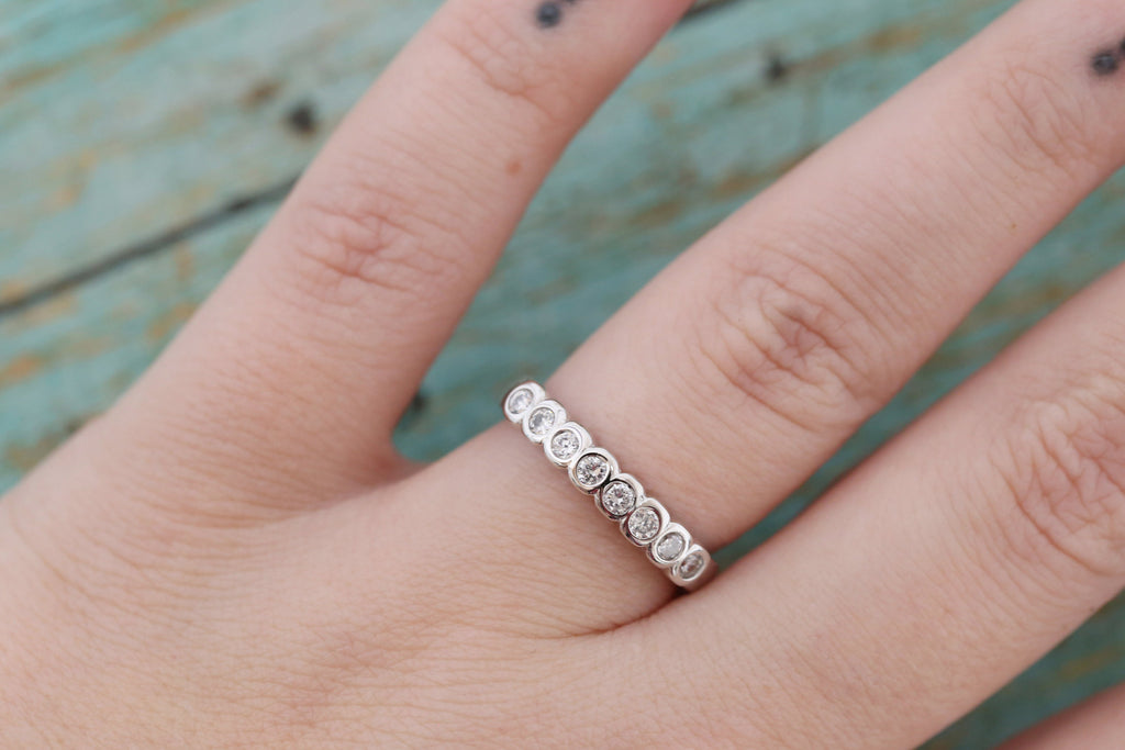 Cremation Ring - Sterling Silver Round Stacking Band Ring - Cremation Jewelry - Ash Ring - Ash Jewelry - Urn Ring - Urn Jewelry - Pet Loss