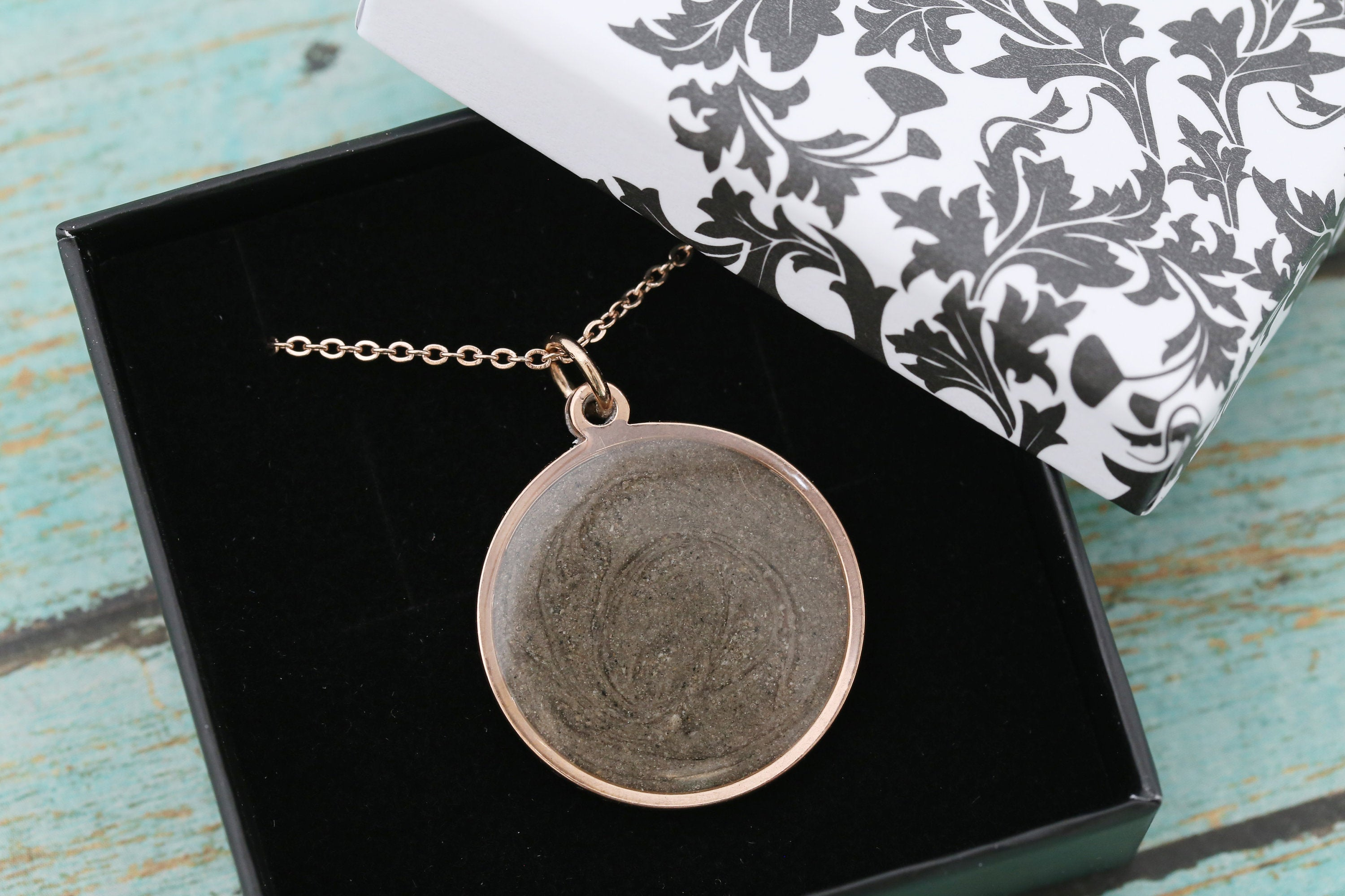 Rose Gold Round Cremation Pendant - Stainless Memorial Pendant for Ashes - Cremation Jewelry - Urn Necklace - Pet Memorial - Ash Necklace