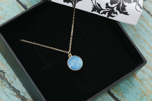 8mm 14k Gold Cremation Necklace - Dainty Gold Circle Pendant - Cremation Jewelry - Ash Necklace - Ash Jewelry - Urn Necklace - Pet Loss