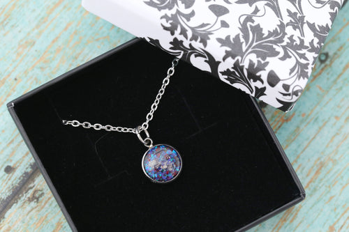 10mm Opal Cremation Pendant - Stainless Memorial Pendant for Ashes - Cremation Jewelry - Urn Necklace - Pet Memorial - Ash Necklace