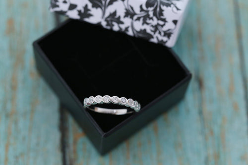 Cremation Ring - Sterling Silver Half Eternity Band Ring - Cremation Jewelry - Ash Ring - Ash Jewelry - Urn Ring - Pet Loss